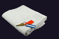 Gym towel with keys Stock Image