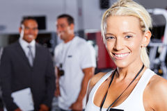 Gym trainer Royalty Free Stock Photo