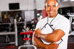 Gym trainer portrait Stock Photo