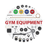 Gym training, bodybuilding, healthy and active lifestyle, fitnes Royalty Free Stock Photos