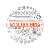 Gym training, bodybuilding, healthy and active lifestyle Stock Photography
