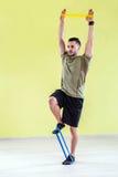 Gym training Stock Photos