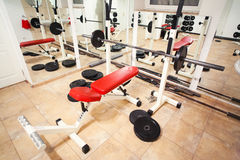 Gym training machines Royalty Free Stock Photo