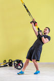 Gym training. Workout fitness exercise Royalty Free Stock Images