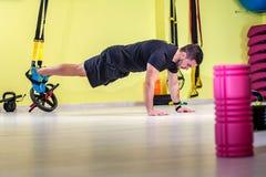 Gym training. Workout fitness exercise Stock Photo