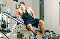 Gym training workout Stock Image