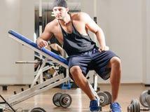 Gym training workout Royalty Free Stock Image