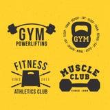 Gym vector badges Royalty Free Stock Photos
