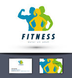 Gym vector logo design template. fitness or sports Royalty Free Stock Images