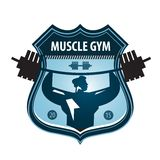 Gym vector logo design template. heavy athletics. Gym. bodybuilding and weightlifting on a white background Stock Photography