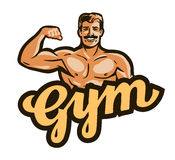 Gym vector logo. sport, fitness, bodybuilding icon Stock Photography