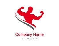 Gym vector logo. Gym logo on white background stock illustration