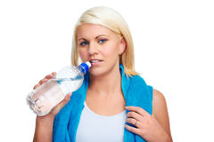 Gym water bottle Stock Images