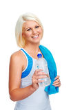 Gym water bottle Royalty Free Stock Images