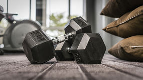 Gym weights stock image