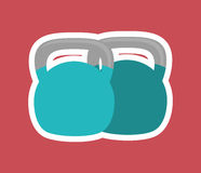 Gym weights equipment Royalty Free Stock Photo