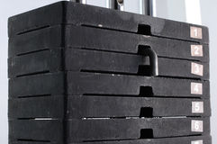 Gym weights stack royalty free stock images