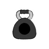 Gym weigth dual grip. Icon  illustration graphic design Stock Image