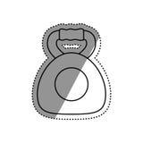 Gym weigth dual grip. Icon illustration graphic design royalty free illustration