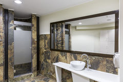 Gym and wellness toilet. Design and furniture Stock Photography