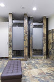 Gym and wellness toilet. Shower cabins Royalty Free Stock Photography