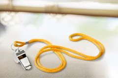 Coach Gym Whistle Isolated on light Background