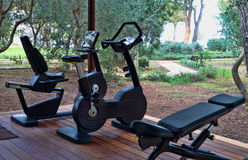 Gym With Fitness Equipment Royalty Free Stock Image