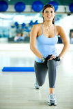 Gym woman Stock Image