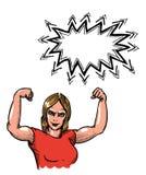 Gym woman-100 Royalty Free Stock Image
