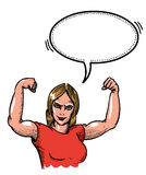 Gym woman-100 Royalty Free Stock Photos
