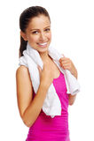 Gym woman Stock Photo