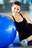 Gym woman doing pilates Stock Photography