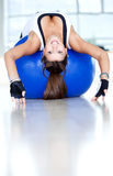 Gym woman doing pilates Royalty Free Stock Image