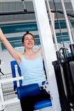 Gym woman exercising Royalty Free Stock Photography