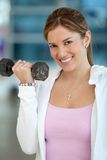 Gym woman exercising Stock Image
