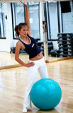 Gym woman exercising Stock Photo