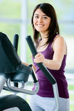 Gym woman exercising Royalty Free Stock Images