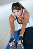 Gym woman exercising Stock Image