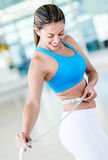 Gym woman loosing weight Stock Image