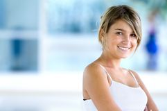 Gym woman portrait Royalty Free Stock Image