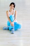 Gym woman - portrait Royalty Free Stock Image