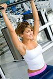 Gym woman portrait Stock Photos