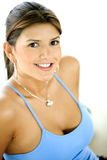 Gym woman - portrait Royalty Free Stock Photo