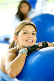 Gym woman portrait Royalty Free Stock Photos
