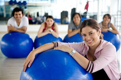 Gym woman portrait Royalty Free Stock Photography