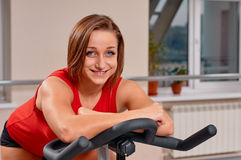 Gym woman portrait Stock Photography