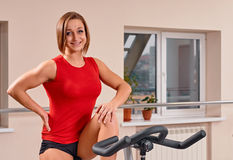 Gym woman portrait Royalty Free Stock Photo