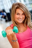 Gym woman ready to race Stock Photography