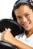 Gym Woman strength training Stock Photos