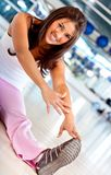 Gym woman stretching Royalty Free Stock Photography